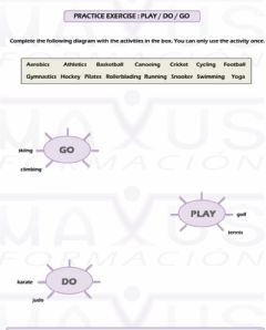 Interactive worksheet Do play go collocations