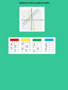 Interactive worksheet Tablas y graficas