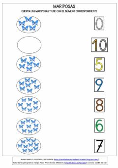 Interactive worksheet MARIPOSAS 5 al 10