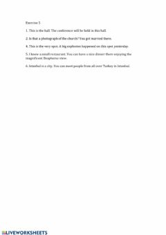 Interactive worksheet Exercise 5