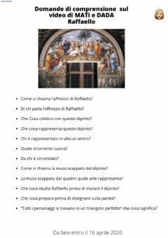Interactive worksheet Raffaello