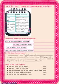 Interactive worksheet Let's cook!