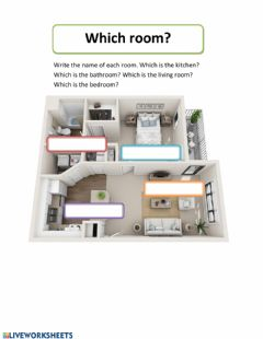Interactive worksheet Rooms of the House 2