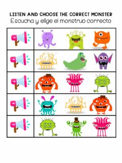 Interactive worksheet Monsters
