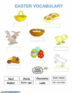 Ficha interactiva Easter vocabulary