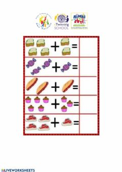 Interactive worksheet Addizioni