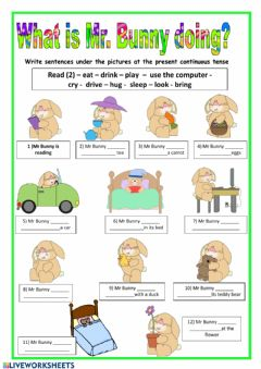 Interactive worksheet Mr Bunny