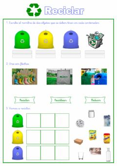 Interactive worksheet Reciclar