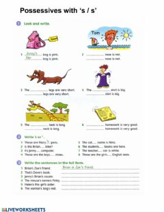 Interactive worksheet GT2 possessives 's-'