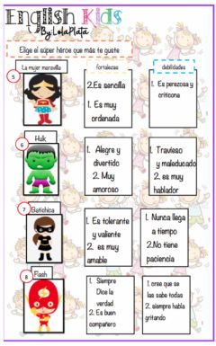 Interactive worksheet Valores