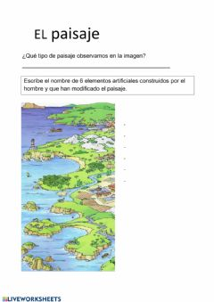 Interactive worksheet Paisaje de costa