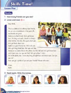 Interactive worksheet A letter