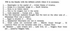 Interactive worksheet Articles with the geographical names