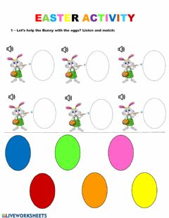 Interactive worksheet Easter Activity