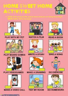 Interactive worksheet Stay Home WS