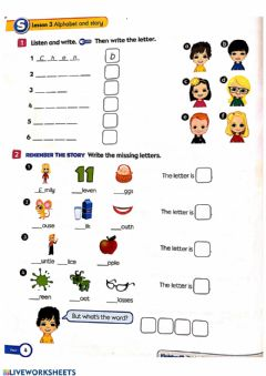 Ficha interactiva ACTIVITY BOOK - Pages 4-5