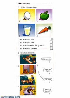 Interactive worksheet The Cat's Dinner 1