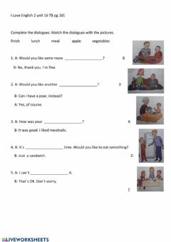 Interactive worksheet ILE 2 U 16  pg 101