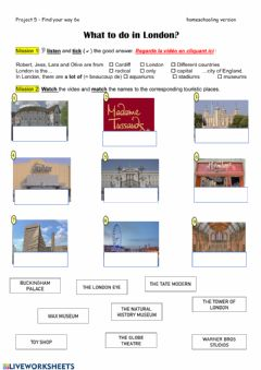 Interactive worksheet What to do in London 6e CO