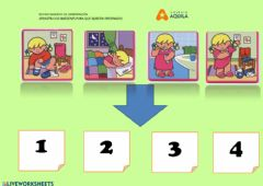 Interactive worksheet Arrastra las imagenes
