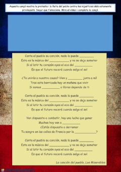 Interactive worksheet Canta el pueblo