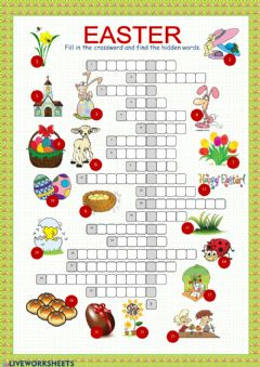 Interactive worksheet Easter crossword