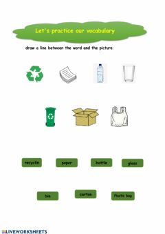 Interactive worksheet Recycling vocabulary