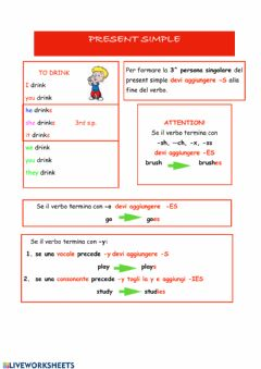 Interactive worksheet Present Simple Affirmative form