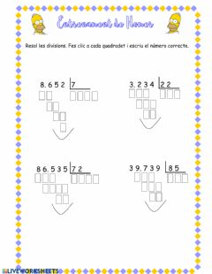 Interactive worksheet repte simpson