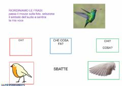 Interactive worksheet Riordina le frasi