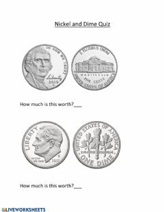 Interactive worksheet Nickel & Dime Quiz