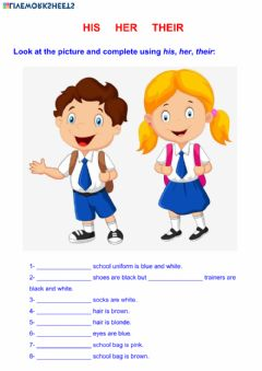 Interactive worksheet His - Her - Their