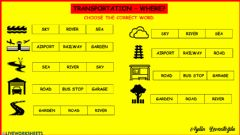 Interactive worksheet Transportation-places
