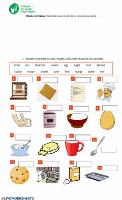 Interactive worksheet Cookie recipe