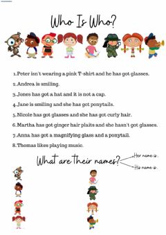 Interactive worksheet Who is who