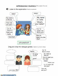 Interactive worksheet Introducin yourself