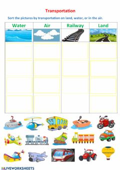 Interactive worksheet Transportation
