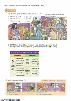 Interactive worksheet Lesson 3 WE