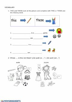 Interactive worksheet Whose book is this?