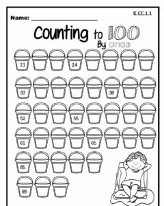 Interactive worksheet Counting to 100 by Ones