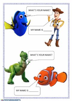 Interactive worksheet What-s your name
