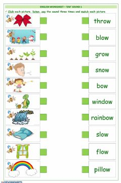Interactive worksheet English - ow words