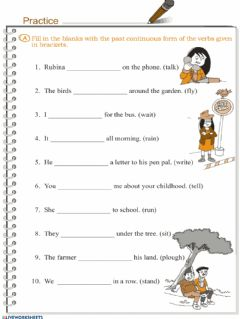 Interactive worksheet Past progressive