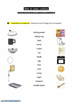 Interactive worksheet How to make cookies POLY 1