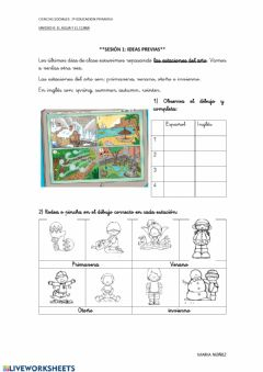 Interactive worksheet Las estaciones del año
