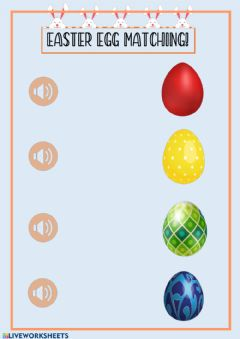 Interactive worksheet Easter egg colours