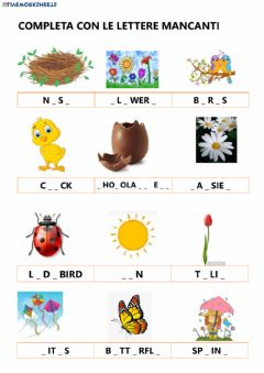 Interactive worksheet Spring vocabulary