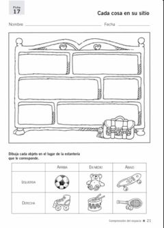 Interactive worksheet Cada cosa en su sitio