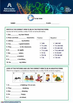 Interactive worksheet To be Verb