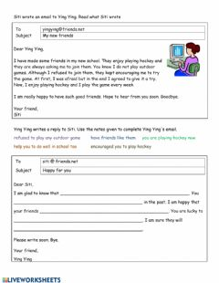 Interactive worksheet My New Friends